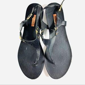 Aldo Sandals Black Faux Leather Size 11